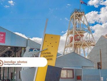 Central Deborah Gold Mine - Bendigo Stock Photos