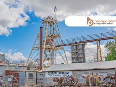 Central Deborah Gold Mine - Bendigo Stock Photos